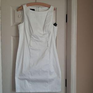 AB Studio white stretch dress